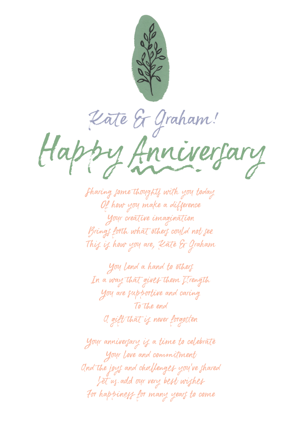 Serious and Sentimental Anniversary Poetry Card 11