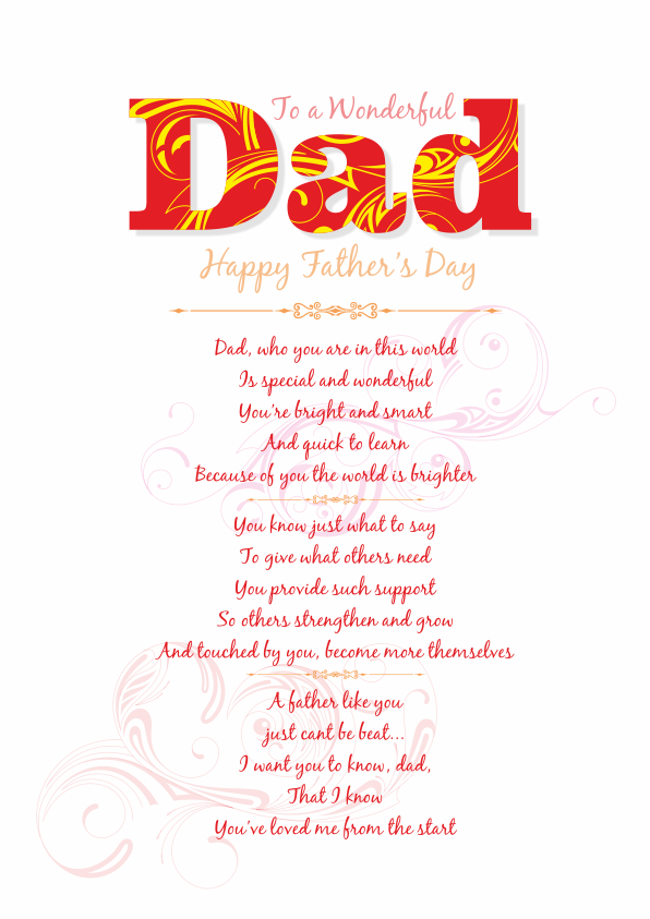 father s day poetry cards