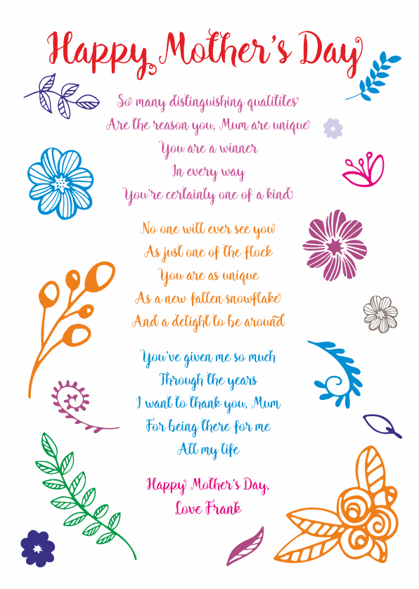 mother s day poetry cards